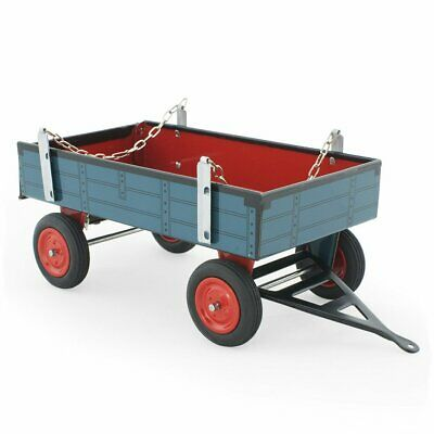 NEW CHILDRENS Tin Toy Trailer - Blue