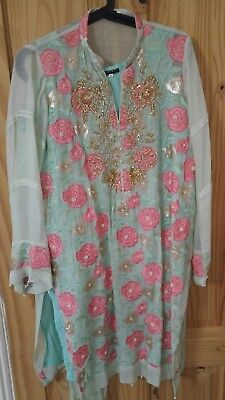Agha Noor ladies kurta with embroidery, Size S, used in clean condition