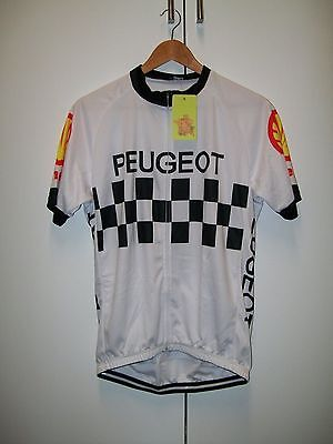 Peugeot Retro Bike Cycling Bicycle Team Short Sleeve Jersey - Size XL