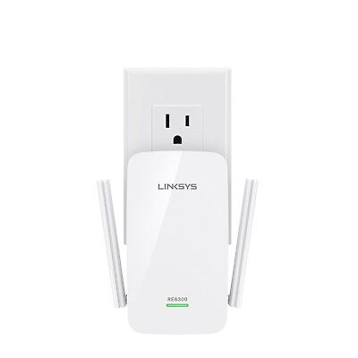Linksys AC750 Boost Dual-Band Wi-Fi Range Extender (RE6300)
