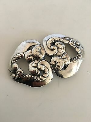 Early Georg Jensen Danish Art Nouveau Belt Buckle No. 10 in 826 Silver
