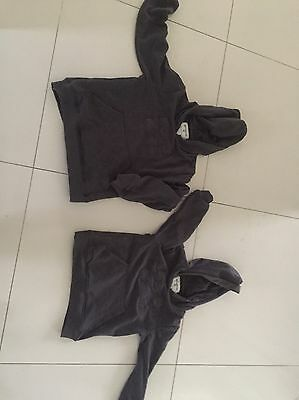 Two Billabong Hooded Jumpers Size 4 And Size 6