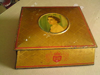 Vintage Collectable Mc. Vitie & Price Ltd. Coronation Souvenir Tin Box - 1953