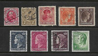 LUXEMBOURG - mixed collection No.3, 1891-1965, mostly used