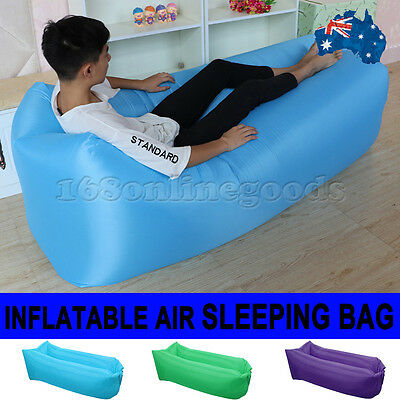 AU Inflatable Sofa Air bag Lounger Festival Camping Holiday Hangout Sleeping Bed