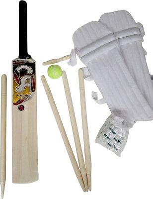 CA Kids Cricket Starter Bat Ball Stumps Pads Gloves Set Size 2 Age 5-8 Years