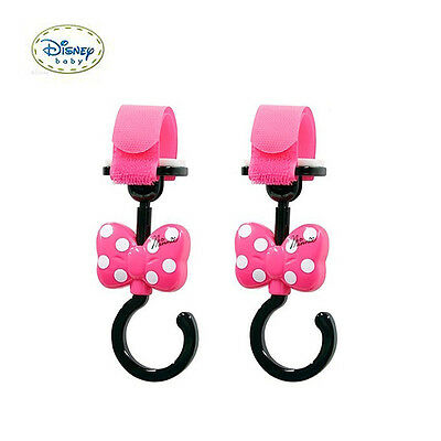 Japan Disney Baby Minnie Mickey Baby Carriage / Car / Stroller Hook Holder R15