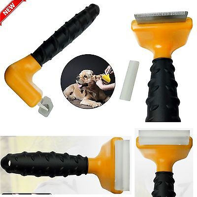 Pet Dog Cat Hair Fur Shedding Trimmer Grooming Rake Professional Comb Brush Tool