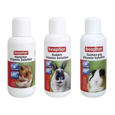 Beaphar Hamster Rabbit Guinea Pig Small Pet Rodent Vitamin Supplement Solution