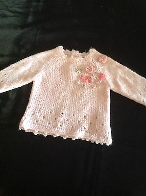 Baby girls knitted jumper cardigan size 000 by Alphabet