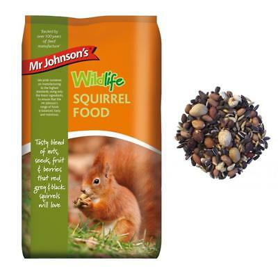 Mr Johnsons Wildlife Squirrel Food Balanced Mix Diet with Nuts Seeds Fruit 900g