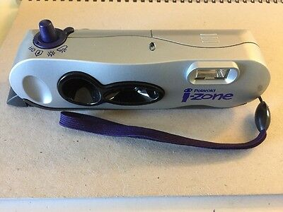 POLAROID i-Zone Instant Film Camera Silver and Blue With Case 2000s