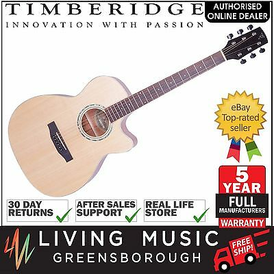 NEW Timberidge Solid Spruce Top & Body Acoustic-Electric Small Body Guitar Satin