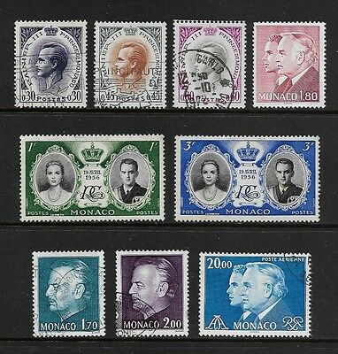 MONACO - mixed collection 1956-1981 Royal Wedding, Prince Rainier, Prince Albert
