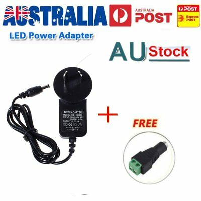 AU 1A 12W Power Supply Adapter 1000mA Converter Adapter AC 100-240V To DC 12V