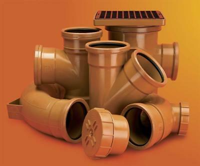 """110mm 4""""Underground fittings bends drainage pipes traps double/single Drain soil"""