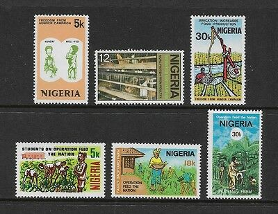 NIGERIA - mint 1974 Freedom From Hunger, 1978 Feed the Nation, sets, MNH MUH