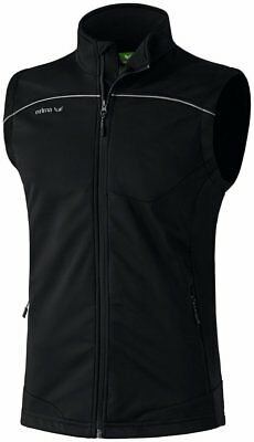 Erima Kids Sports Soft Shell Gilet Full Zip Sleeveless Jacket Top Waterproof