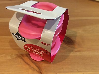 Tommee Tippee Pack Of 2 Food Pots Suitable For 4 Months Plus