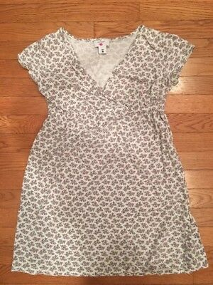 Two Hearts Maternity Nursing Nightgown Pink/WhiFloral Pattern Size: Large
