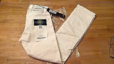 Stone Island Boys Slim fit Jeans Age 8 - White - Brand New With Tags