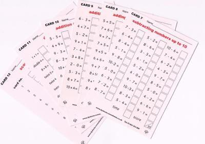 Mental Maths Dry wipe cards, Ks1, Ks2, 330 questions, 12 cards