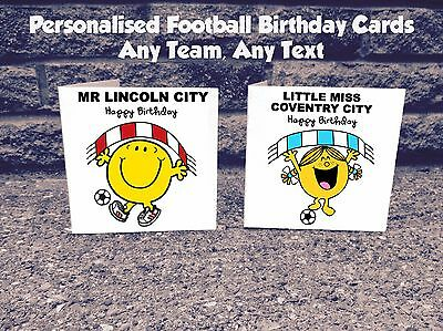 Personalised Any Football Team Birthday Card - League Two