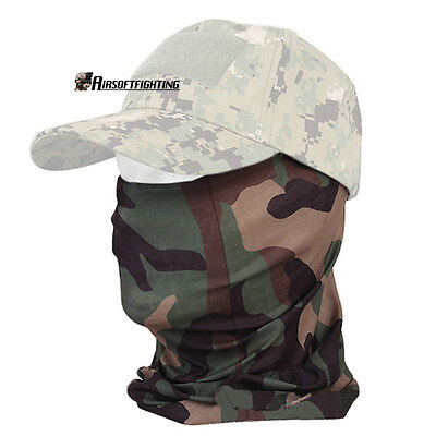 Tactical Military Outdoor Quick-Drying Hood Balaclava Full Scarf Face Mask WD