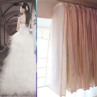 UK Bridal Wedding Dress Garment Dustproof Storage Bag Cover Evening Protector
