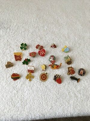 McDonald's Lapel Pin Collection-Vintage and Rare Pins  25 Total