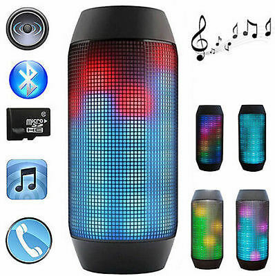Wireless Bluetooth Speakers Portable Super Bass Stereo Pulse Led Light Show New