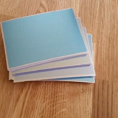 Craftroom Clearout! KANBAN A6 Metallic Card 250 Gsm Shades Of Blue 10 sheets