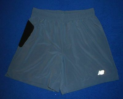 New Balance Gray Dri Fit Vented Sides Athletic Running Shorts Mens Size Medium