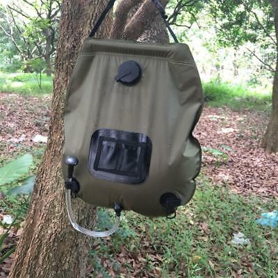 20L Foldable Solar Energy Heated Water Bag PVC Camp Shower for Hiking Travel