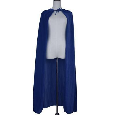 Adult Ankle Length Velvet Cloak Hood Gothic Grim Reaper Cape Witchcraft Costume