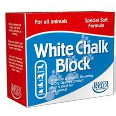 Hatchwells White Chalk Grooming Cleaning Block Formula Horse Dog Cat Rabbits