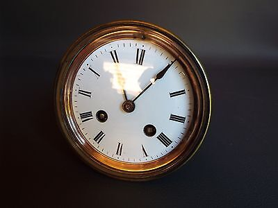 Antique or vintage clock movement bezel dial & hands - repair or spares