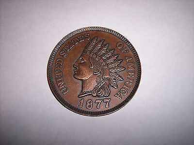"""1877 One Cent Copper Novelty Coin 3"""""""