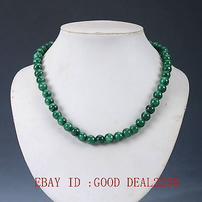 Chinese Natural Malachite Handmade Decorations Necklaces XL002