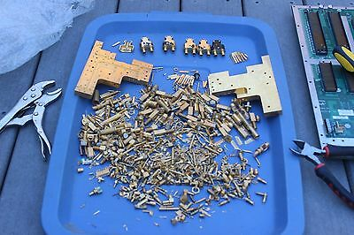 Nice Lot of Old Scrap Gold RF & Microwave Connectors & Components - 3.6 Pounds