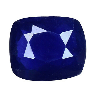 1.040 Cts Resplendent Top Luster Blue Natural Sapphire Cushion Gemstones