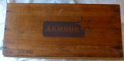 Armour Corned Beef Wooden Box Uruguay Nice condition