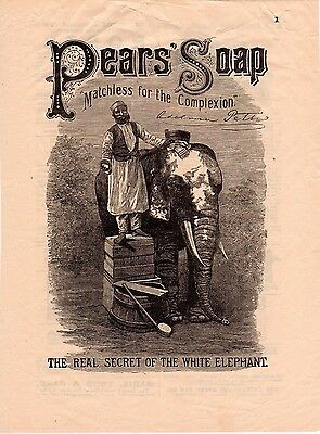 Pears' Soap - The Real Secret of the White Elephant