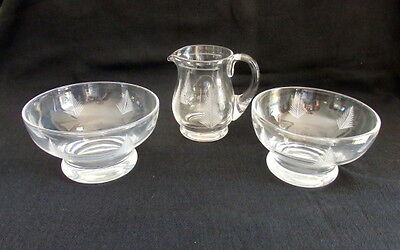 Stuart Crystal Woodchester Creamer + 2 Compotes