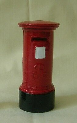 "English Pillar Box 2"" mailbox or letter box, #1 gauge train layout, Reproduction"