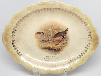 Vintage Carnation McNicol Plate, Cigar Co. C.W. Keiter, Kutztown, PA Birds As Is