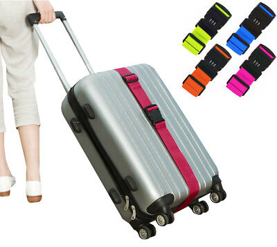 Combination Luggage Straps Adjustable Suitcase Travel Baggage Tie Down Belt Lock