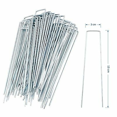 50-200 Galvanised Metal U Pins Ground Stakes Camping Gazebo Tarpaulin Pegs Hooks