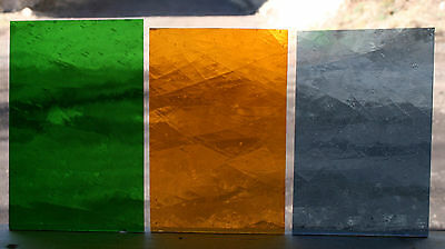 Vintage Hand Blown Antique Stained Glass,12 sheets 4x6, mix, #443