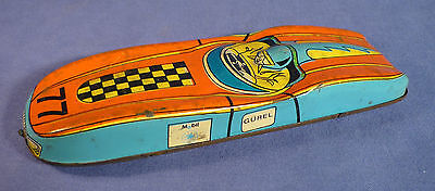 GÜREL Blech Auto Rennwagen 77 Mobil 50's vintage tin toy car Turkey A175